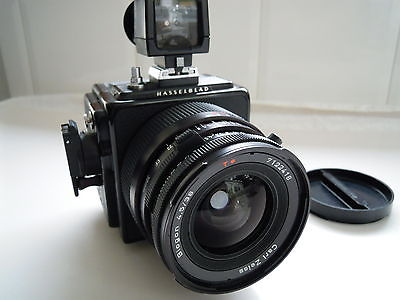 Hasselblad 903SWC Film Camera with Biogon CF F4.5 38mm Lens , viewfinder and A12