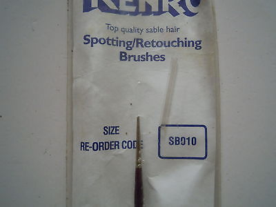 Kenro Sable Hair retouching/spotting Brush SB010