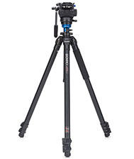 Benro A2573FS4 Video Tripod Handle Head Rotating Levelling Base & Bag Kit