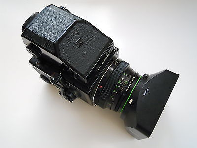 Bronica ETRS with AE Prism and 75mm lens 120 magazine