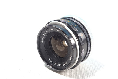 Canon 28mm f/3.5 FL manual focus lens
