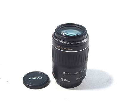 Canon 55-200mm EOS autofocus lens USED good condition