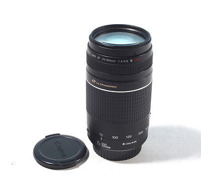 Canon 75-300 EOS III autofocus lens USED good condition