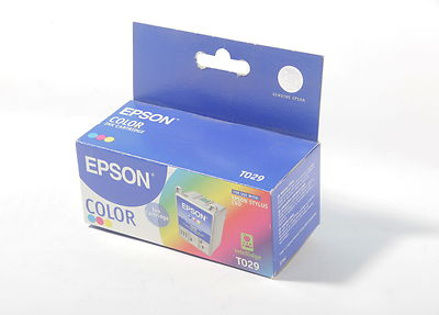 Epson T029 colour ink cartridge for Epson Stylus C60 37ml dated 2003