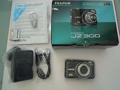 Fujifilm FinePix JZ300 12.1 MP Digital Camera - Black