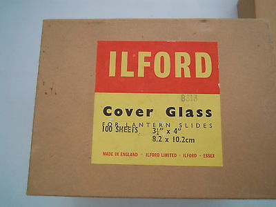 ILFORD COVER GLASS FOR LANTERN SLIDES 3 1/4 X 4""