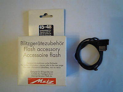 METZ 45-48 SYNCHRO  CORD 1M FLASH ACCESSORY